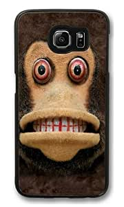 Children's Big Face Cymbal Monkey PC Case Cover for Samsung S6 and Samsung Galaxy S6 Black Kimberly Kurzendoerfer