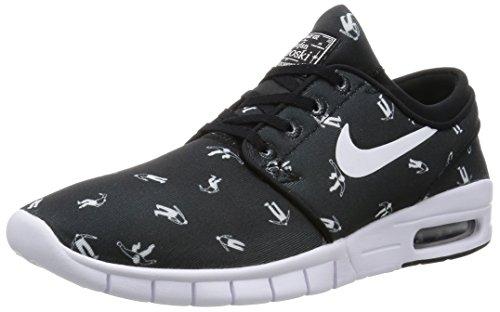 Nike Stefan Janoski Max PRM Mens Sneakers Black/Black//White (Nike Stefan Janoski All White)