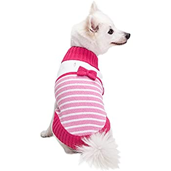 044dc5c0ef60f Blueberry Pet 2019 New 4 Patterns Pinky Princess Designer Chenille Dog  Sweater with Bow Decor