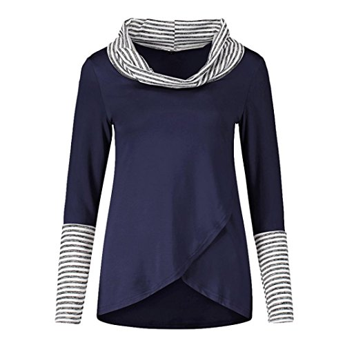 Pull Sweatshirt Longues Manches Stripe O neck Chemisier Paolian Femmes xz1qI6x
