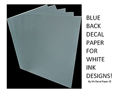 Blue back waterslide decal paper - Inkjet A4 - Five pack sizes (5) Mr Decal Paper MDPBLUEINK