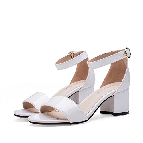 PUMPS Sandalen Schuhe,Simple Koreanische Version von High Heels,Ferse Schnalle mit Schuhen-A Fußlänge=22.8CM(9Inch)