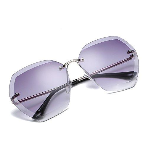 Lente de UV de Color Piloto polarizado señoras Gafas 2 Sakuldes Metal 400 Espejo Sol 8 Protegido PwgqCx