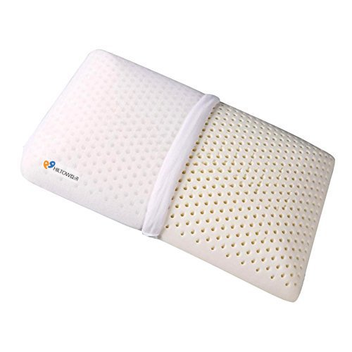 Hiltow Natural Latex Pillow with 100% Ventilated Latex Foam,Breathable Removable Zippered Cover by Hiltow