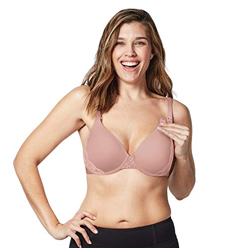 (BRAVADO! DESIGNS Women's Belle Underwire Maternity and Nursing Bra, Rose Dust, 38D)