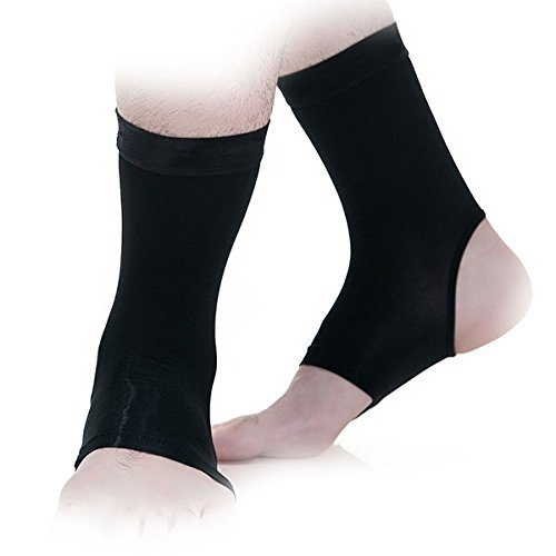 (Ankle Sleeves with Compression for Men or Women, Fits Adults or Young Adults)