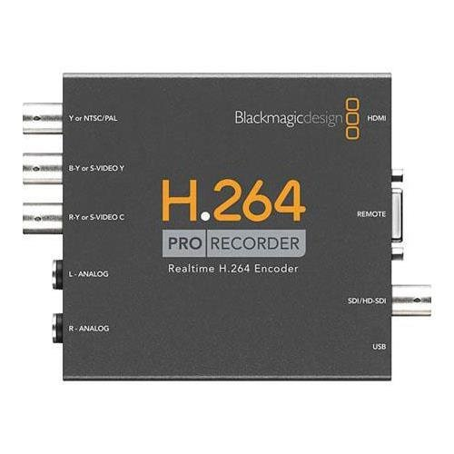- Blackmagic Design H.264 Pro Recorder, Distributes H.264 Video Files to Websites, YouTube, iPhone, iPad- Captures from All Popular Video Formats