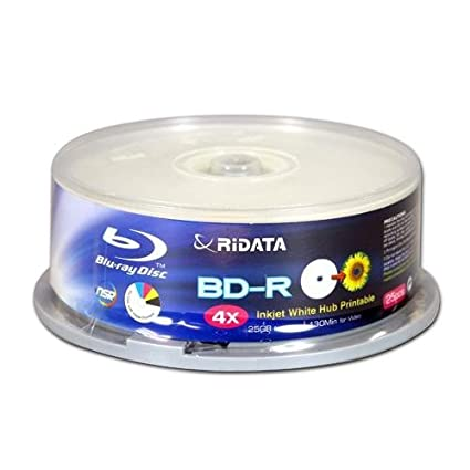 Amazon.com: Ridata – bdr-254-rdiwn-cb25 4 x 25 GB Inyección ...
