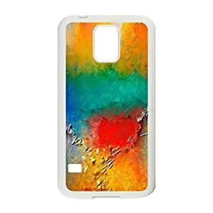 Hard Shell S5 Case- Colorful Spots Protective PC Case for Samsung Galaxy S5 (White 102126)