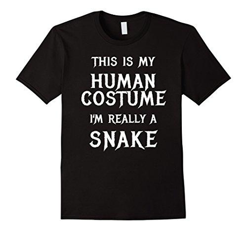 Mens Snake Halloween Costume Shirt Easy Funny for Kids Men Women Large Black - Easy College Halloween Costumes Male