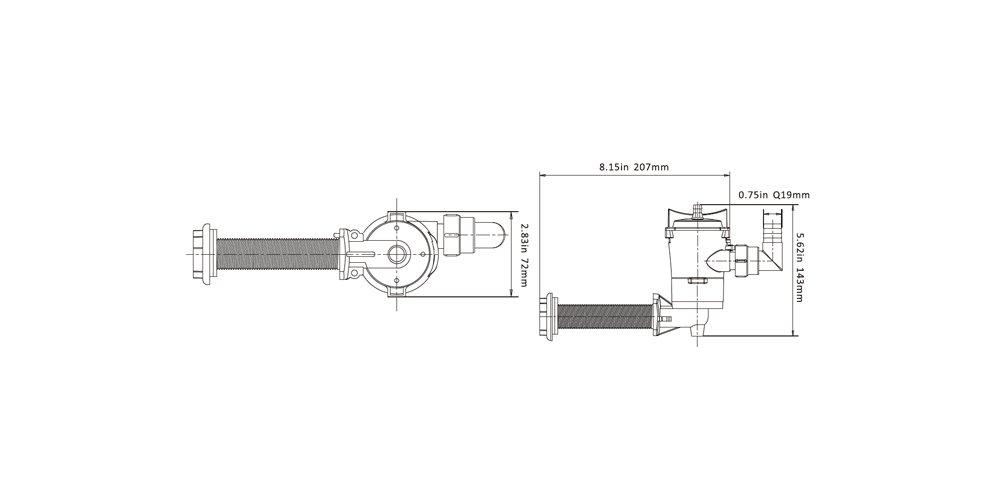 Seaflo bomba de 50/LPM aireador