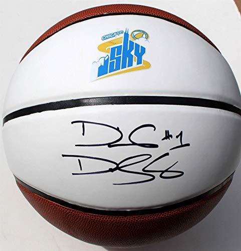 Diamond DeShields Signed Chicago Sky Full Size Basketball w/COA WNBA - Autographed Basketballs