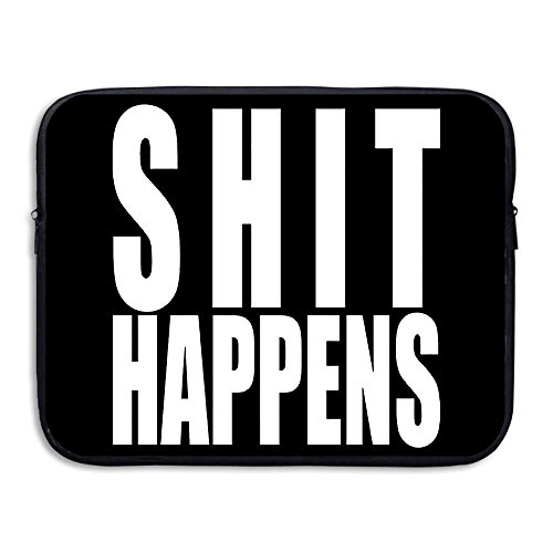 [BANA Custom Shit Happens Anti-shock Laptop Sleeve Case Bag 15 Inch] (Flash Gordon Costume Amazon)