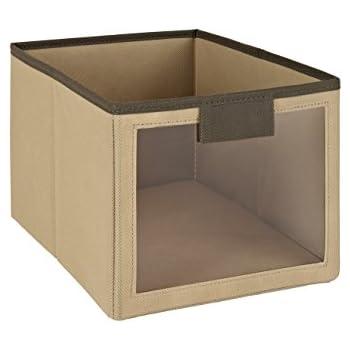 ClosetMaid 25065 Fabric Bin With Window,Mocha