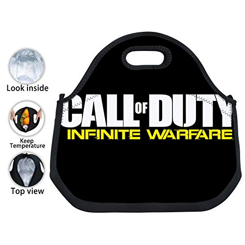 (Call-of-Duty Black-Ops Infinite Warfare Waterproof Large Capacity Insulated Tote Bags Adult Kids Tinfoil Paper Lunch Boxes for School Work)