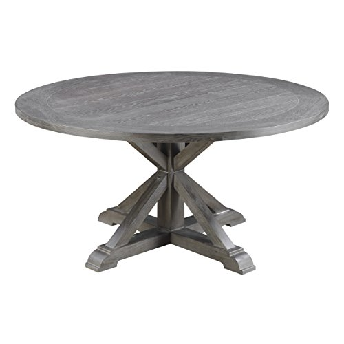 Emerald Home Furnishings D350-12-K Paladin Round Dining Table, Standard, Rustic Charcoal Gray (Paladin Furniture)