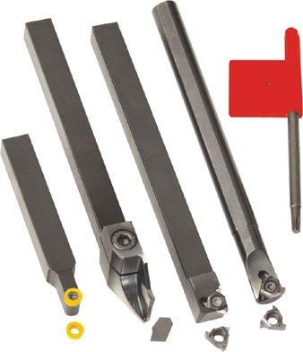 Set für Gewindeschneiden, Abstechen und Profildrehen, schaft 16mm.