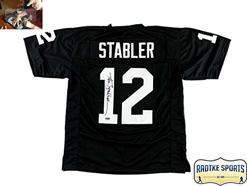 Ken Stabler Autographed/Signed Oakland Raiders Black Custom (Raiders Ken)