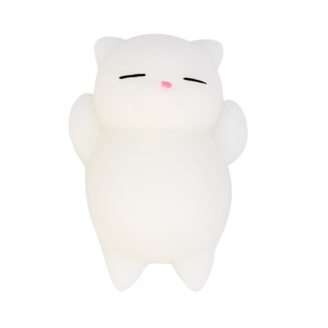 Pocciol Cute Mochi Anxiet Reliever Toy, Slow Rising Soft Cat Rabit Seal Squishy for Kid Adult (C)
