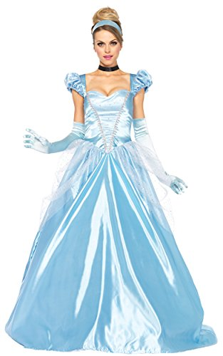 [UHC Women's Classic Cinderella Disney Princess Fancy Dress Halloween Costume, L (12-14)] (Cheap Adult Disney Princess Costumes)
