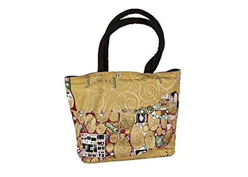 Canvas Tasche Die Erfüllung, Gustav Klimt, schwarz, Artis Vivendi