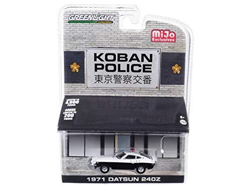 Greenlight 51156 1: 64 1971 Datsun 240Z Koban PoliceMijo Exclusives, Black/White