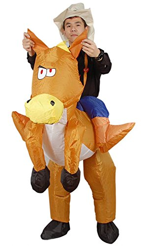 Horse And Rider Fancy Dress Costume (Ameyda Halloween Costumes Adults Inflatable Horse Rider Fancy Party Dress)