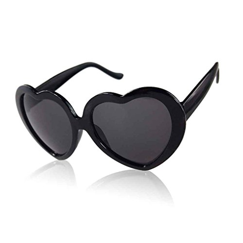 forma Providethebest de corazón Amor Diseño sol lindo de del la Gafas Negro Negro TwrCTBIx