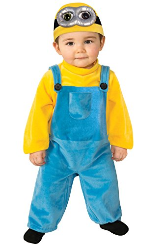 Rubie's Costume Co Baby Boys' Minion Bob Romper Costume, Yellow, 3-4 (Family Halloween Costumes With Toddler)