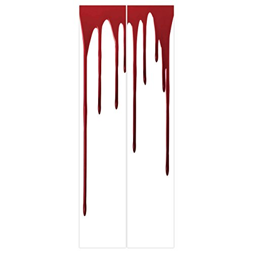 3d Door Wall Mural Wallpaper Stickers [ Horror,Flowing