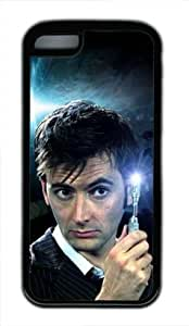 TOPPEST David Tennant Doctor Who SciFi TV Series Custom TPU (Rubbber) Black Case for iPhone 5c