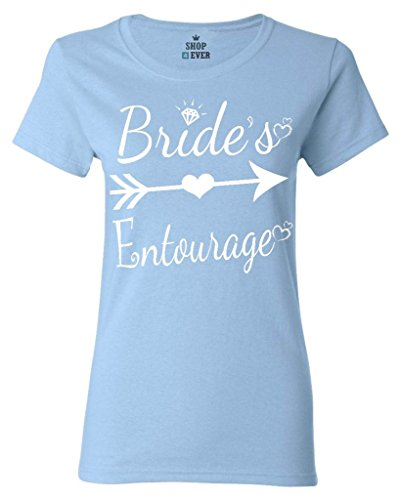 (Shop4Ever Bride's Entourage Women's T-Shirt Wedding Shirts Large Light Blue0)