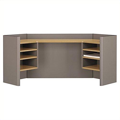 Bush Business Furniture Series A Collection 42W Corner Hutch in Light Oak