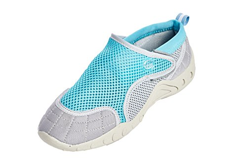 Style Closure Velcro 10 Women Beach High US Bluegrey Shoes Women's with Shoes Water Aqua qxUgFS