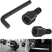 Replacement Hex Bolts & 12mm Hex Allen L-Wrench Tool Perfect for Olympic Bars, Curl Bars, Tricep Bars, Dum