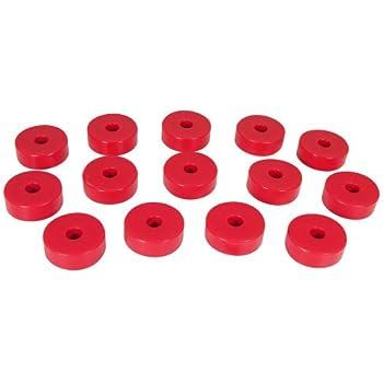 22 Piece CJ8 CJ7 Prothane 1-107 Red Body Mount Bushing Kit for CJ5 YJ and TJ