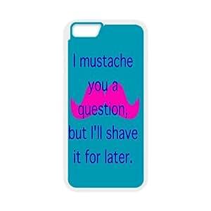 """Clzpg Drop-ship Iphone6 4.7"""" Case - Moustache plastic case"""