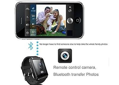 GeekEra Bluetooth Smart Watch WristWatch U8 UWatch Fit for Android Smartphones Samsung HTC Sony LG (Black)