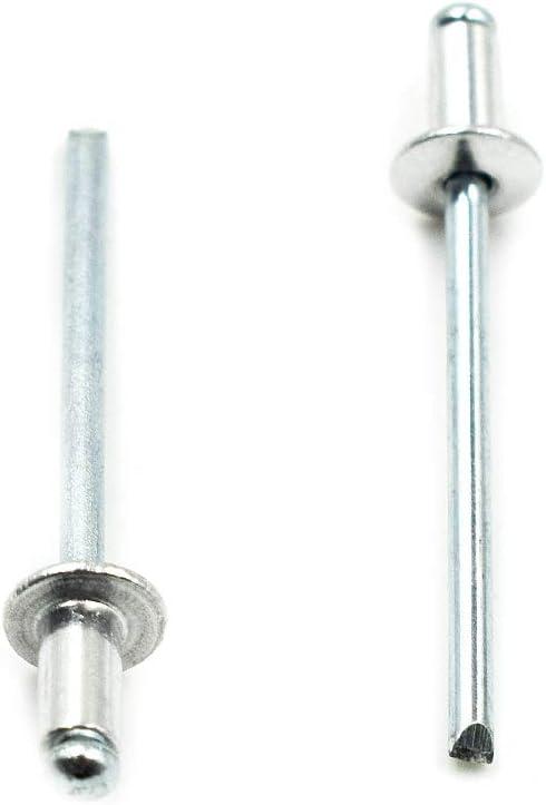 3.2 x 6-100 unidades Remaches de cabeza de c/úpula de acero inoxidable A2 de Blind Pop