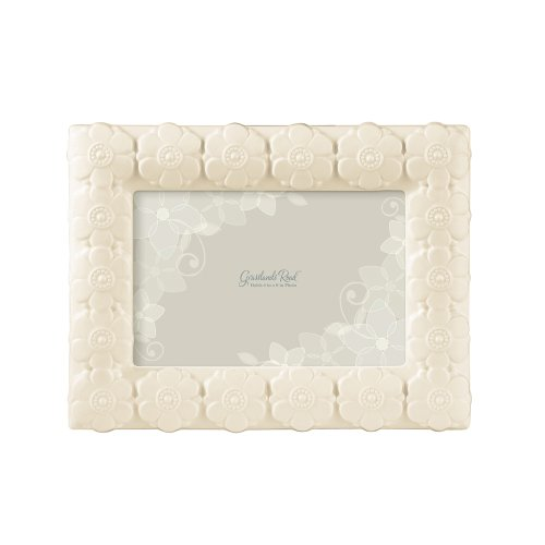 Grasslands Road Everyday Life Photo Frame, White Floral Tile, 4 by 6-Inch