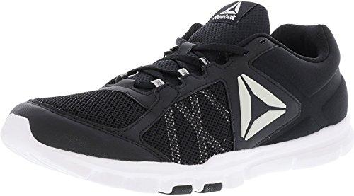 Reebok Yourflex Train 9.0 MT Running Shoe - Black White Grey - Mens - 12