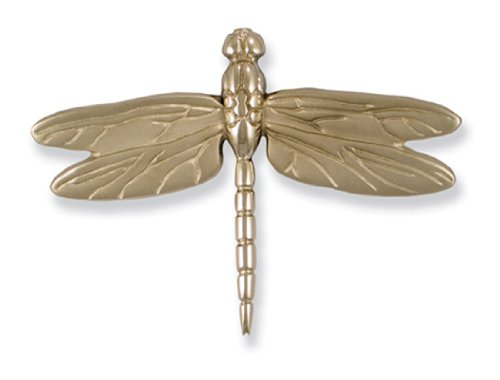 Knockers Chrome Brass Over Door (Dragonfly in Flight Door Knocker - Nickel Silver (Premium Size))