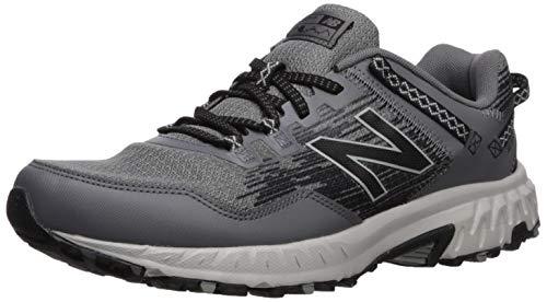 New Balance Men's 410v6 Cushioning Trail Running Shoe, Castlerock/rain Cloud/Black, 10.5 4E US