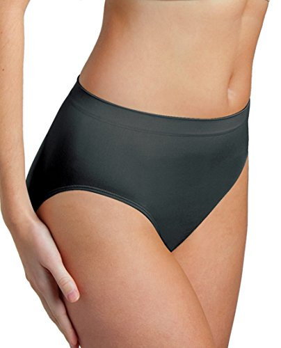 Genie Briefs Womens Super-Soft Seamless Smooth Fit Panties (Black, 4X)