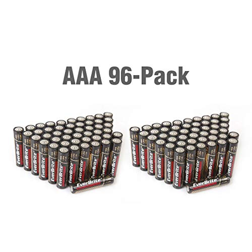 EverBrite 96 Count AAA Batteries Alkaline Battery Bulk Pack