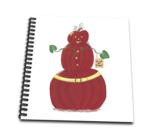 3dRose CherylsArt Holidays Halloween - Painting of a Pumpkin Person with Halloween Trick or Treat Bag - Mini Notepad 4 x 4 inch (db_311430_3)]()