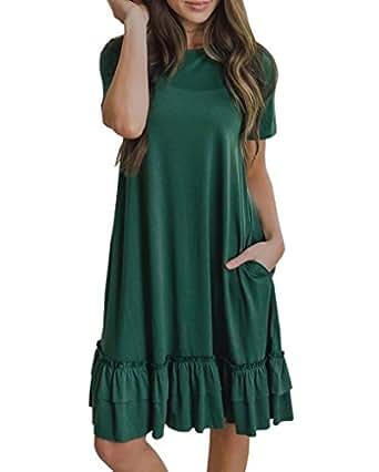 Youxiua Womens Casual Summer Dresses Short Sleeve Loose