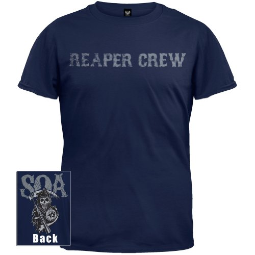 Sons of Anarchy Reaper Crew Layered Icons T-shirt (Black, Large)