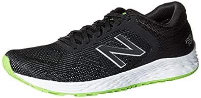 New Balance Men's Arishi V2 Fresh Foam Running Shoe, Black/RGB Green, 8.5 D US