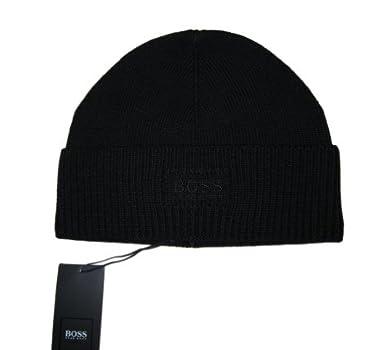 098d4e046359 Hugo Boss - Bonnet - Homme Noir Noir  Amazon.fr  Vêtements et ...